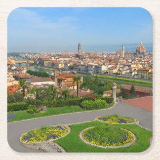 Våren blommar i Florence Underlägg Papper Kvadrat