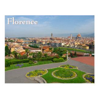 Våren blommar i Florence Vykort