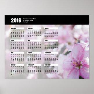 Våren blomstrar kalendern 2016 poster