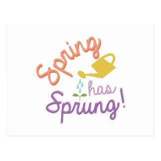Våren har fjädrat! vykort