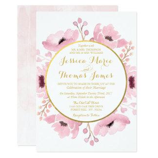Våren Pinks den blom- bröllopsamlingen för 12,7 X 17,8 Cm Inbjudningskort