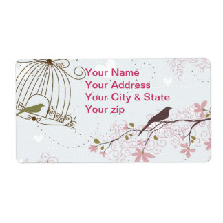 Vårfågel- & blommaAvery etikett Fraktsedel