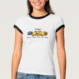 Varför råkost? En sida T-shirt