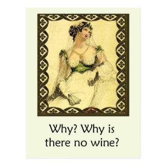 Varför? Varför finns det inget vin? Humoristiska Vykort