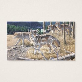Varg i vinterskog visitkort