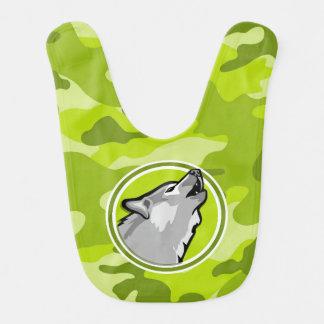 Varg; ljust - grön camo, kamouflage hakklapp