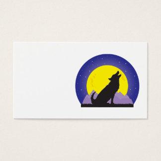Varg och måne visitkort