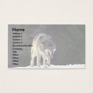 Varg på snöig horisont visitkort