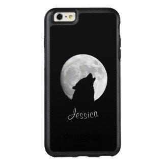 Varg som tjuter på fullmånen, ditt namn OtterBox iPhone 6/6s plus skal
