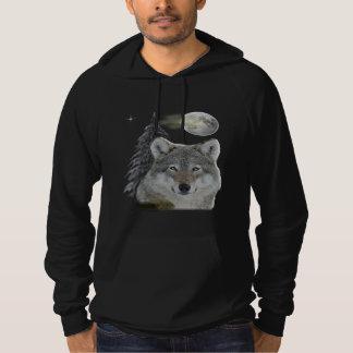 varg-t-skjortor tröja med luva