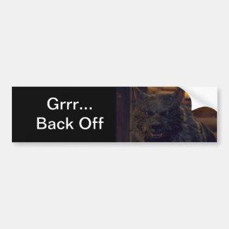 """Varg - """"tillbaka av """", bildekal"""