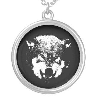 Varg~-Werewolf Silverpläterat Halsband