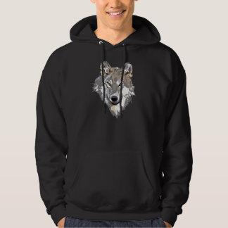 Vargansikte på den för manar hoodien sweatshirt med luva