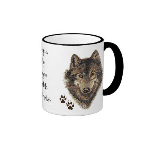 Vargen kodifierar citationstecknet, djura varger kaffe kopp