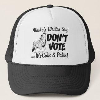 Vargnågot att säga röstar inte den McCain Keps