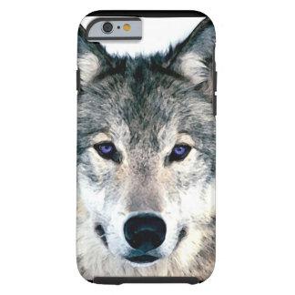 Vargögon i djur för skogenvildnatur tough iPhone 6 fodral