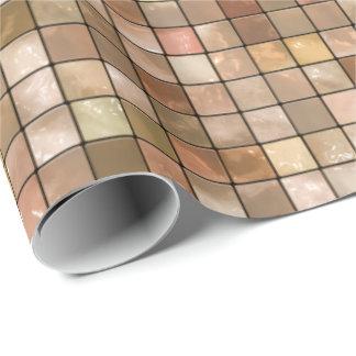 Variabeln skuggar brunt geometriskt belägger med presentpapper