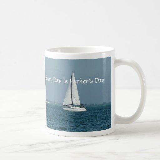Varje dag är fars dag som seglar kaffe kopp