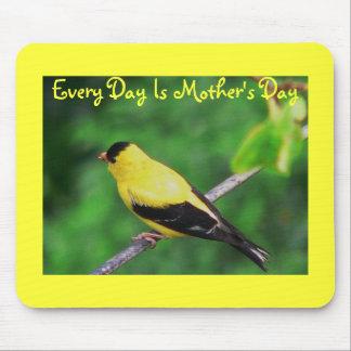 Varje dag är mors dag, gul Finch Musmatta