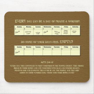 Varje dagberöm & dyrkan - kalender musmattor