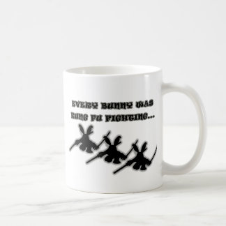 Varje kanin var kung fu som slåss… kaffemugg