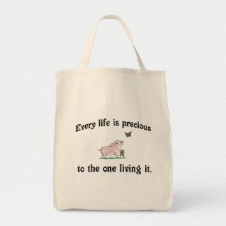 VARJE LIV ÄR DEN DYRBARA gulliga grisen hänger lös Tygkasse