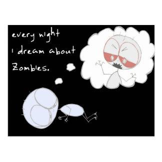 varje natt drömm jag om zombies - vykort