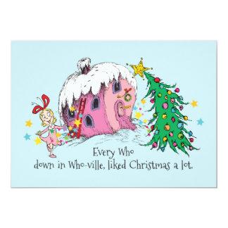 Varje som i Som-ville, gillad jul per lot. 12,7 X 17,8 Cm Inbjudningskort