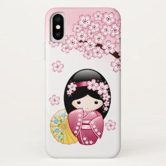 VårKokeshi docka - gullig japansk Geishaflicka