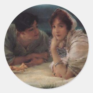 Värld av deras eget vid herr Lawrernce Alma-Tadema Runt Klistermärke