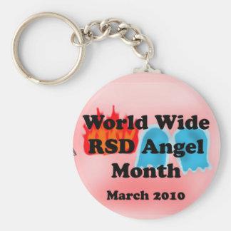 Värld - bred RSD-ängelmånad! Rund Nyckelring