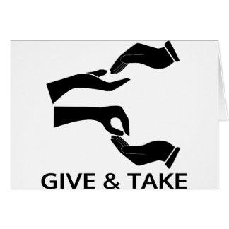 Värld för ge och Take Hälsningskort