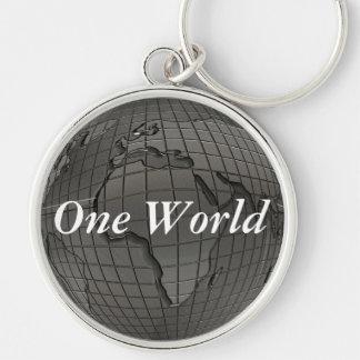 Värld Keychain för jorddag en Rund Silverfärgad Nyckelring