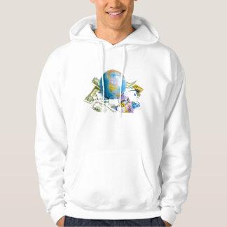 värld med pengar sweatshirt