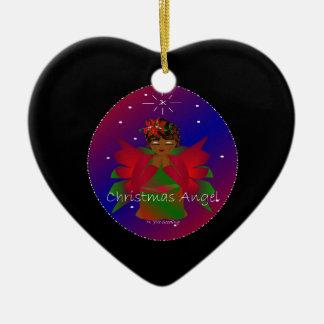 Värld runt för julängelbaby i svart III Juldekoration