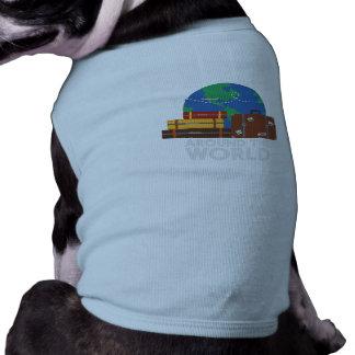 Värld runt hundtröja