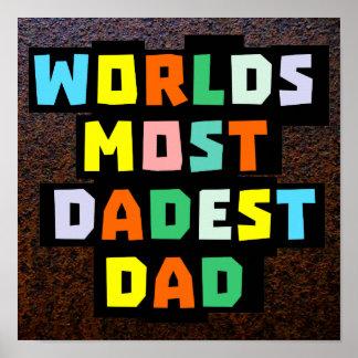 Världar mest Dadest pappa Poster