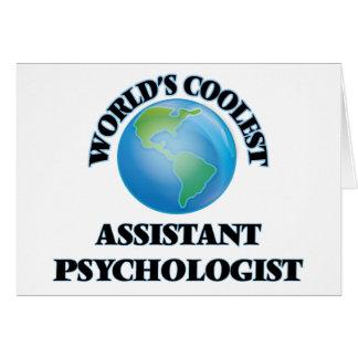 världars KALLAST assistentpsykolog Hälsningskort