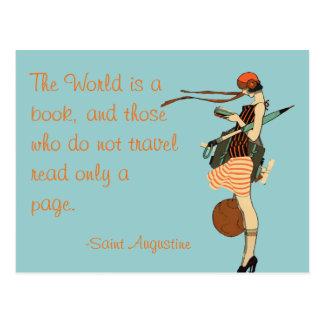 Världen är en bok vykort