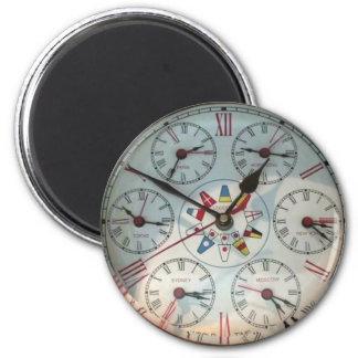 Världen Clock avbildar standart, 2 som ¼ flytta Magnet