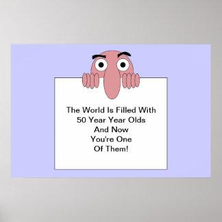 Världen fylls med <Your Age> År - olds Poster
