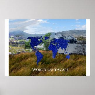 Världen landskap poster