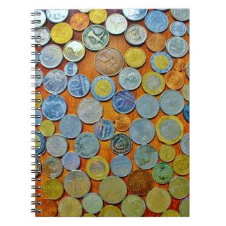 Världen myntar samlingen anteckningsbok
