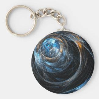 Världen runt görar sammandrag konst Keychain Rund Nyckelring