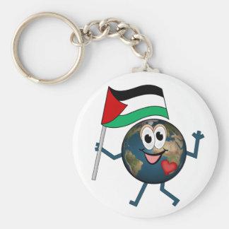 Världen stöttar palestinsk Statehood Rund Nyckelring