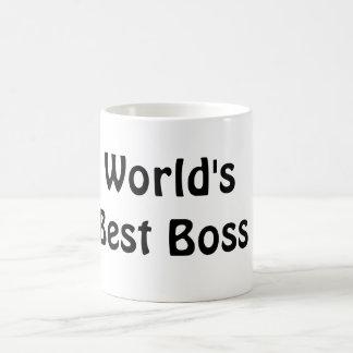 Världens bäst chef vit mugg