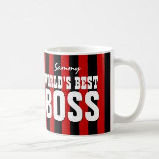 Världens görar randig den röda svarten för bäst kaffe mugg