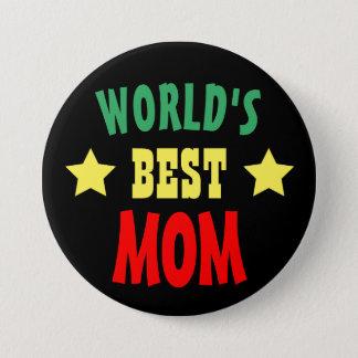 Världens knäppas bäst mamma färgrika Pinback Mellanstor Knapp Rund 7.6 Cm