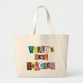 Världens noterar den bäst lärareransomen toto häng jumbo tygkasse