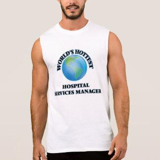 Världens servar varmmaste sjukhus chefen sleeveless tröjor